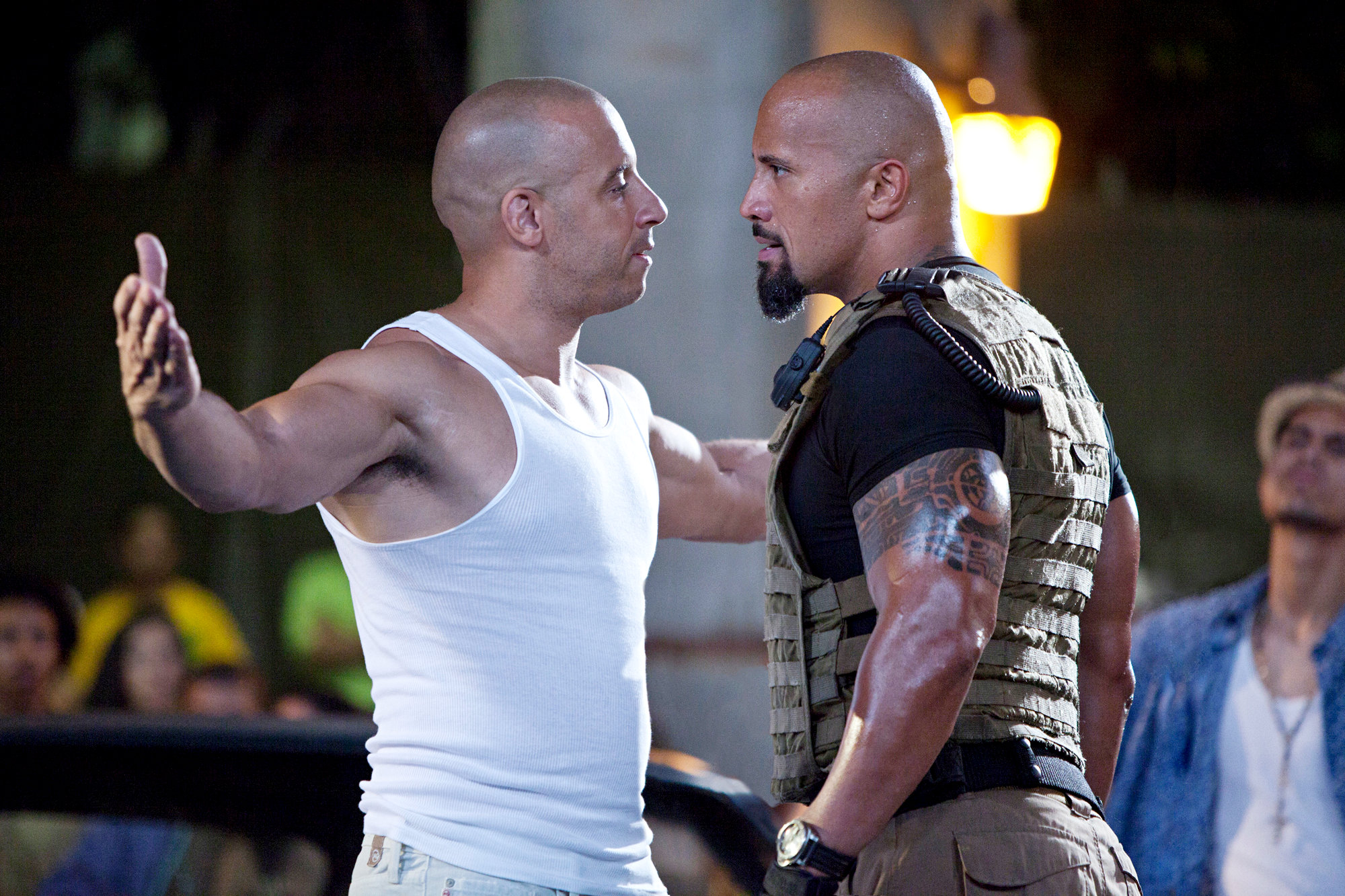 Hobbs and Dom in Fast Five screenshot | kesseljunkie