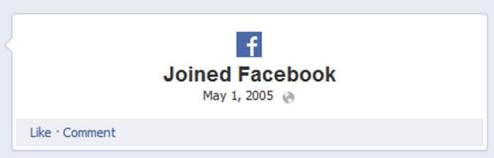 Start date of facebook